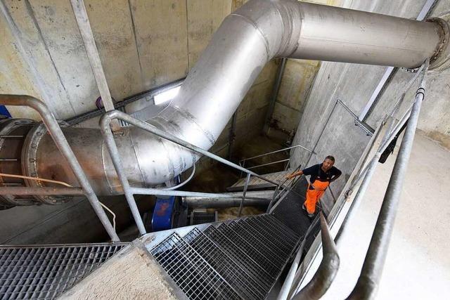 BZ-Leser erkunden das größte Regenüberlaufbauwerk Freiburgs
