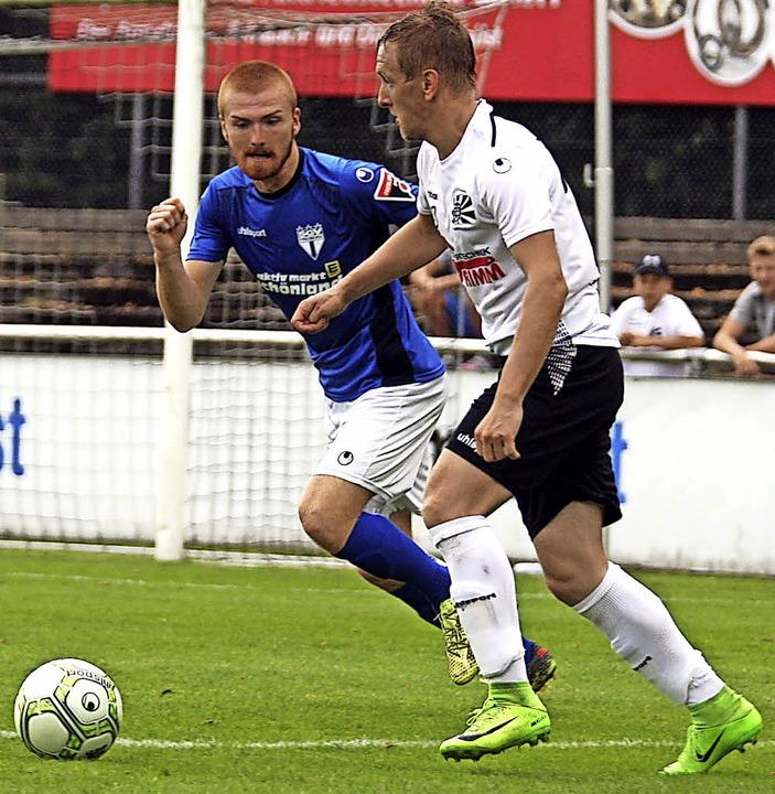 Stjepan Geng (rechts) zieht die Fäden im Villinger Mittelfeld.   | Foto: Reinhardt