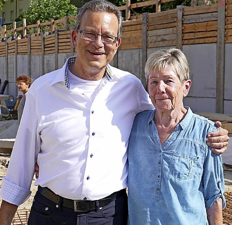 Sympathisches Duo: Achim Kirsche und Anita Basler    Foto: Seller
