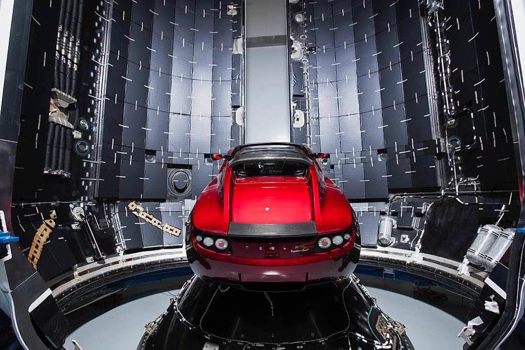 Der Tesla Roadster wurde schon ins All geschossen.   | Foto: SpaceX