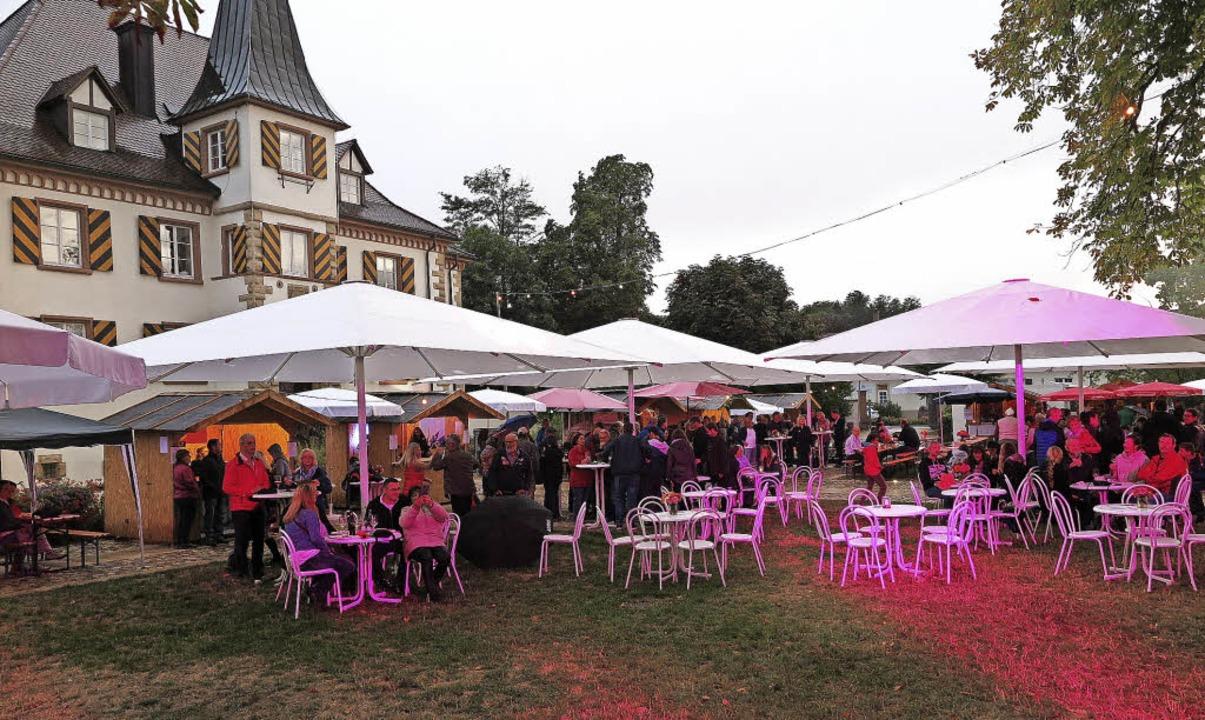 Beste Stimmung und lebhafter Betrieb h...mstag bei den Schliengener Weintagen.   | Foto: d. philipp