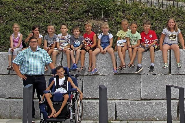 Kinder beim Bürgermeister