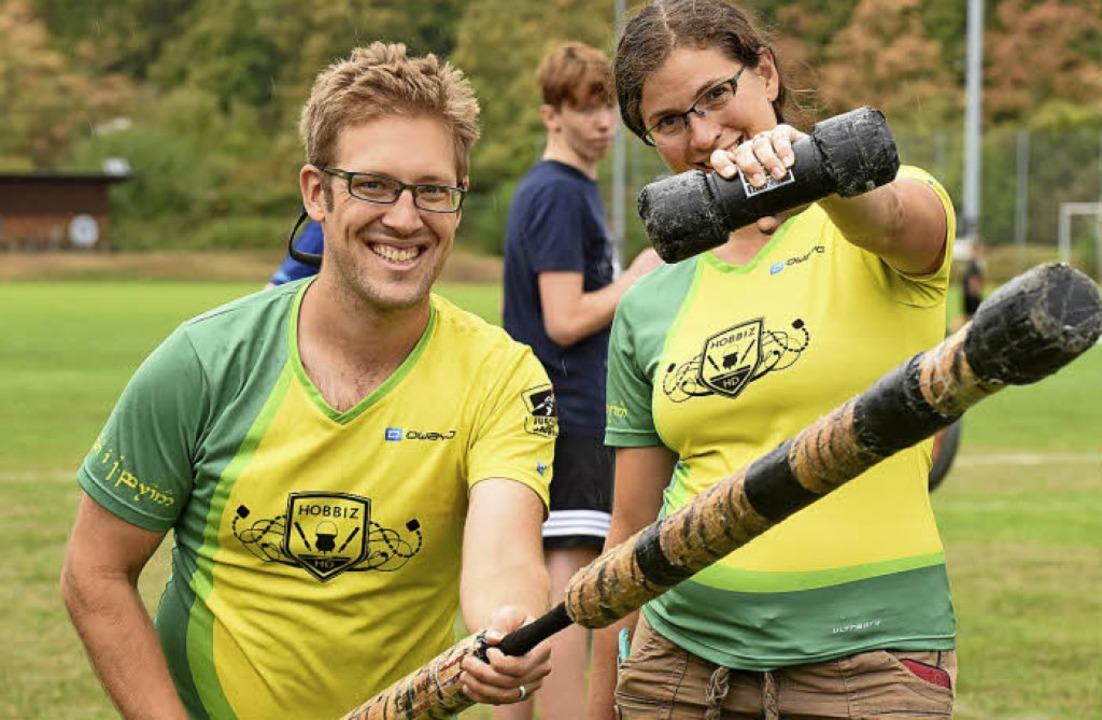 Even Savage und seine Frau Valkyrie sind aus Kanada angereist.  | Foto: Rita Eggstein