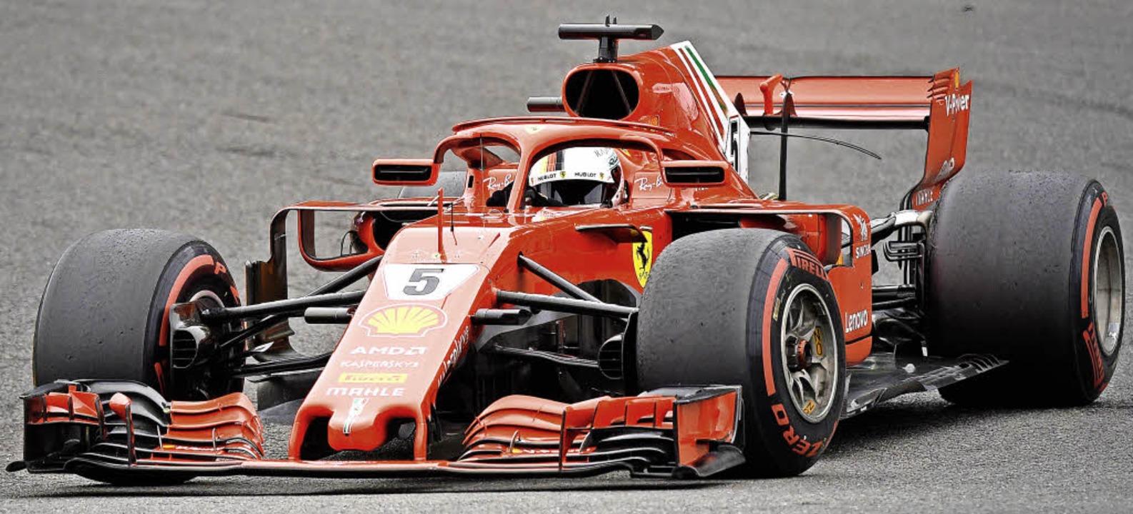 Ferrari-Pilot Sebastian Vettel kommt i...mal aus der Sommerpause der Formel 1.   | Foto: AFP