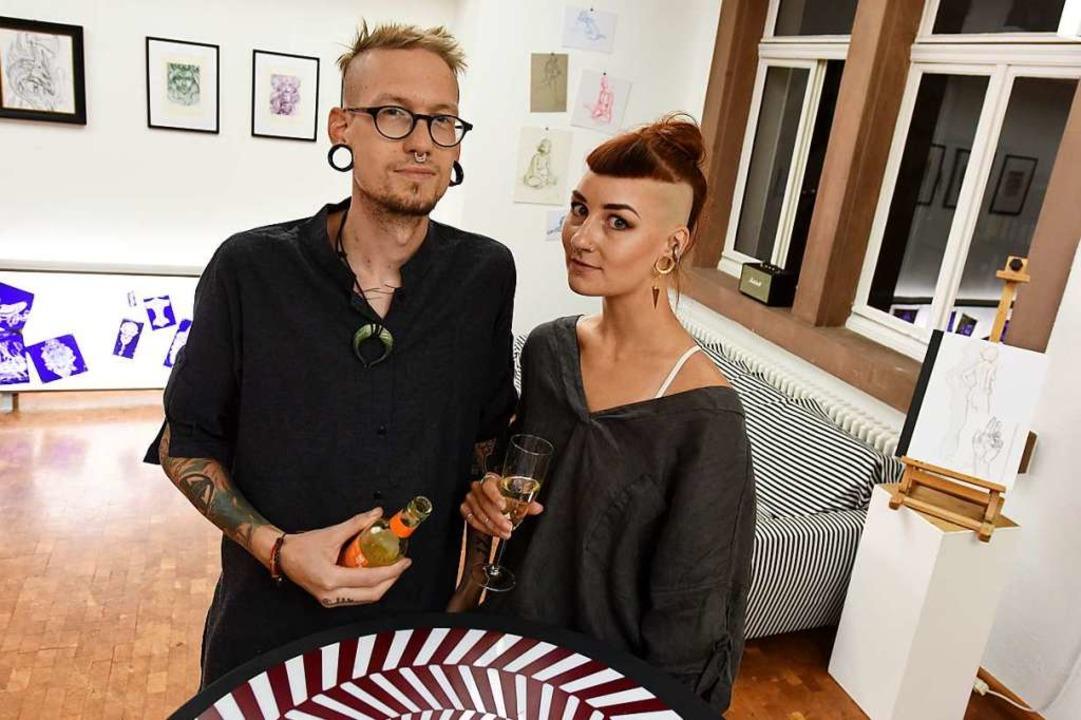 Paul Leger und Gwendolin Widmann.  | Foto: Rita Eggstein