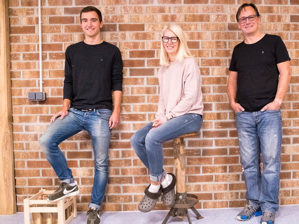 Die Gin-Macher: Phillipp Wuchner, Heike Kraft und Markus Wuchner (von links)    Foto: Anna Lob