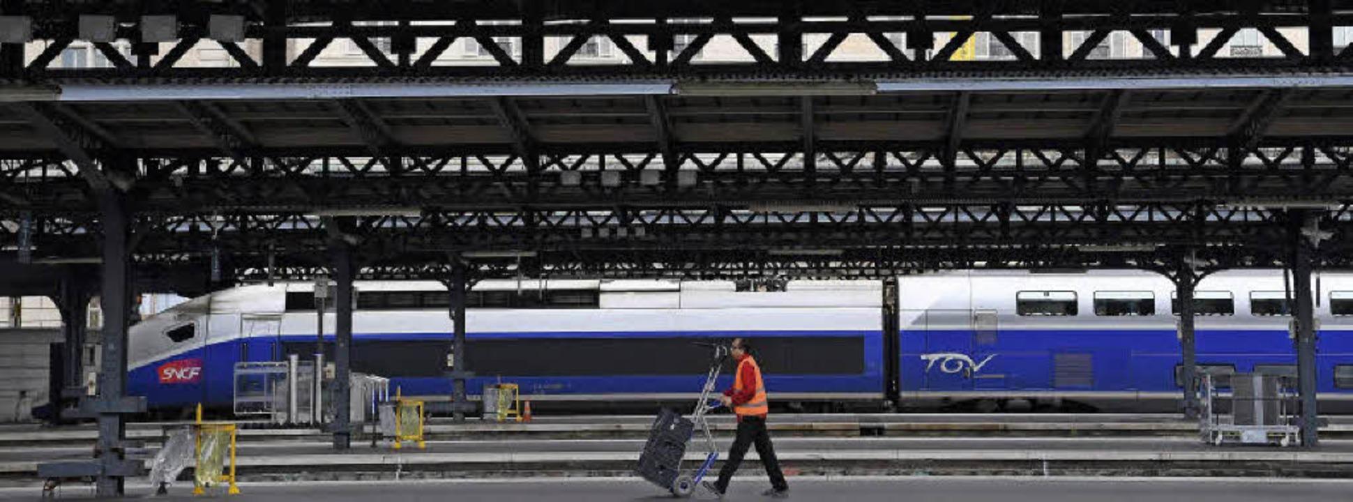 Der Gare de L'Est  (Foto) rückt ...de TGV nach Paris  auch in Offenburg.   | Foto: AFP