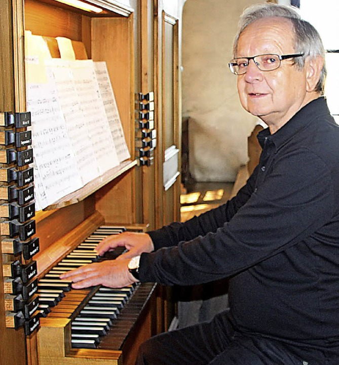 "Kirchenmusiker Michael Reiling aus Fre...Reihe ""Musik im Kloster"".     Foto: yvw"