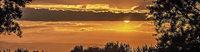 Über den Vogesen gibt es immer wieder spektakuläre Sonnenuntergänge