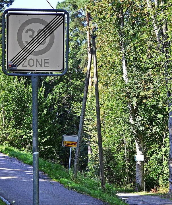 Die vollkommen widersprüchliche Beschi...Baum das grüne Schild Waldweg gesperrt    Foto: Liane Schilling