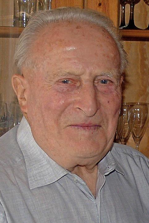 Siegfried Grafmüller an seinem 85. Geburtstag.   | Foto: Aribert Rüssel