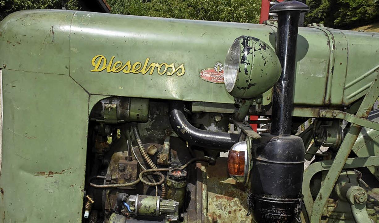 Der Traktor musste noch nie repariert werden.  | Foto: Thomas Biniossek