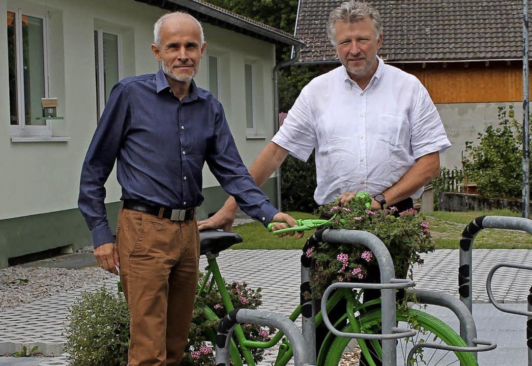 <BZ-FotoAnlauf>Besuch in Tegernau:</BZ... Gerd Schönbett im Kleinen Wiesental.     Foto: Gemeinde Malsburg-Marzell