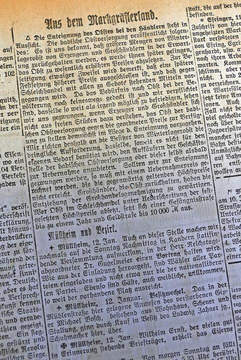 Buchstabenwüste, kaum Überschriften, k...hren die Markgräfler Nachrichten aus.   | Foto: Susanne Ehmann