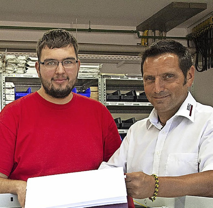 Nico Mast und  Bieg-Geschäftsführer Gerhard Weber   | Foto: privat