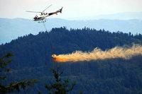 Wanderin am Kandel durch Hubschrauber komplett eingekalkt