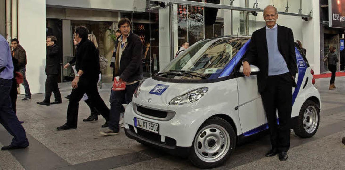 AGILES AUTOFrüh erkannte die Daimler A... gebaute Carsharingauto der Welt vor.   | Foto: obs/ Daimler AG