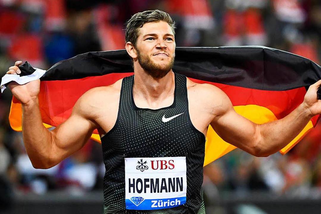 Andreas Hofmann hat zum ersten Mal in der Diamond League triumphiert.   | Foto: dpa/AFP
