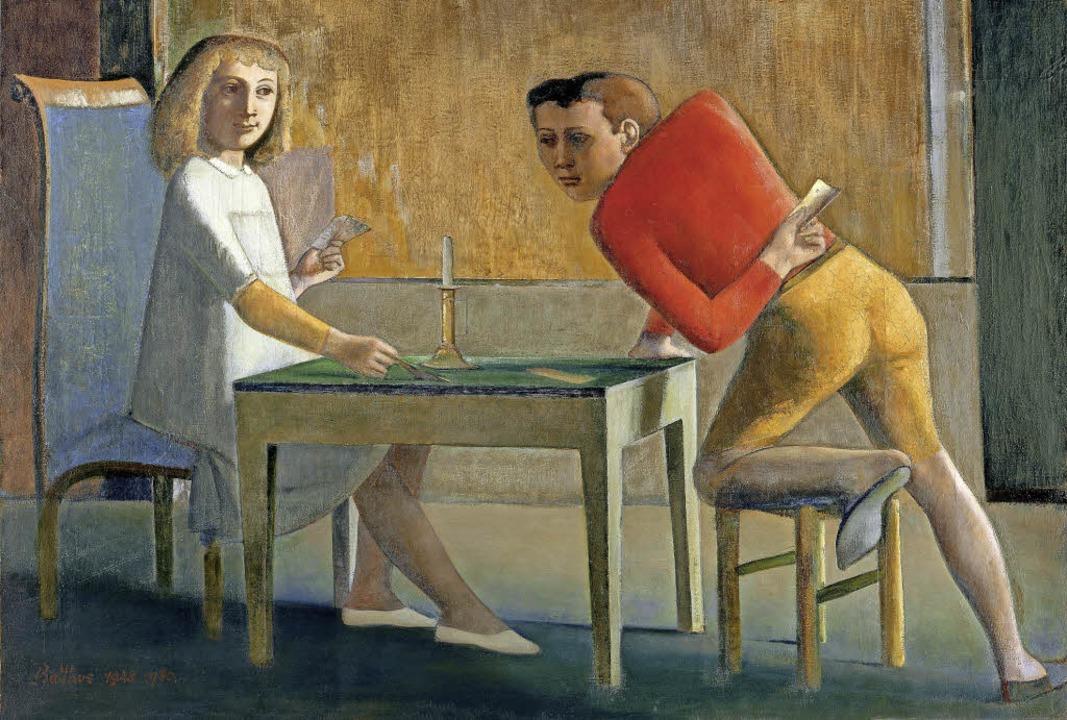 Balthus: La Partie de cartes (Das Kartenspiel), 1948–50, Öl auf Leinwand    Foto: Balthus