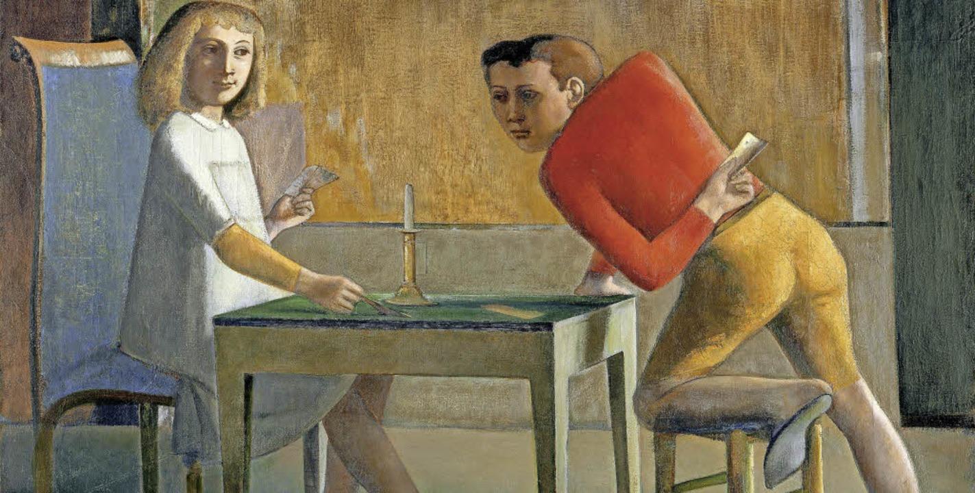 Balthus, La Partie de cartes, 1948 - 1950    Foto: Museo Thyssen- Bornemisza