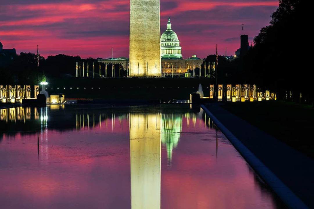 Sonnenaufgang in Washington.  | Foto: dpa