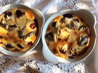 Grüße vom Spätsommer: Gratiniertes Zwetschgenkompott mit Vanilleeis