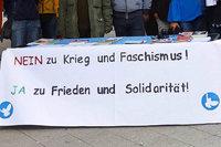 Protest gegen Krieg und Faschismus auf dem Oberrheinplatz in Rheinfelden