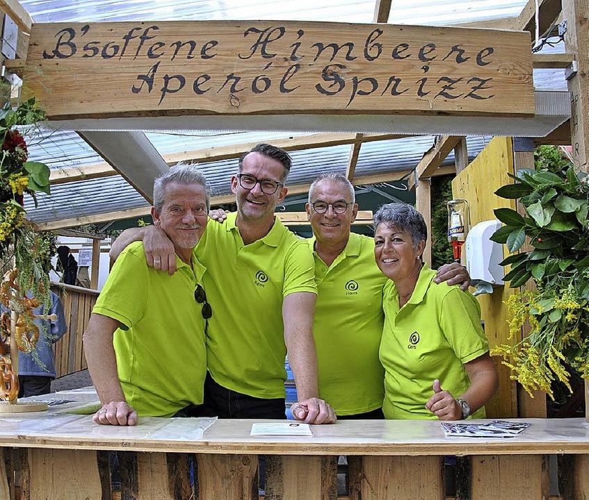 René Willems, René van Lierop, Hans Be...n Pfaffenweiler für den Tennisclub aus    Foto: Ralph Fautz