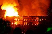 Feuer zerstört Brasiliens Nationalmuseum – und Millionen Kulturgüter