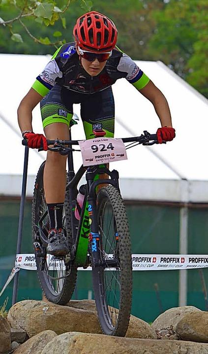 Anfangs in der U-17-Spitzengruppe: SG-Fahrerin Finja Lipp  | Foto: Privat