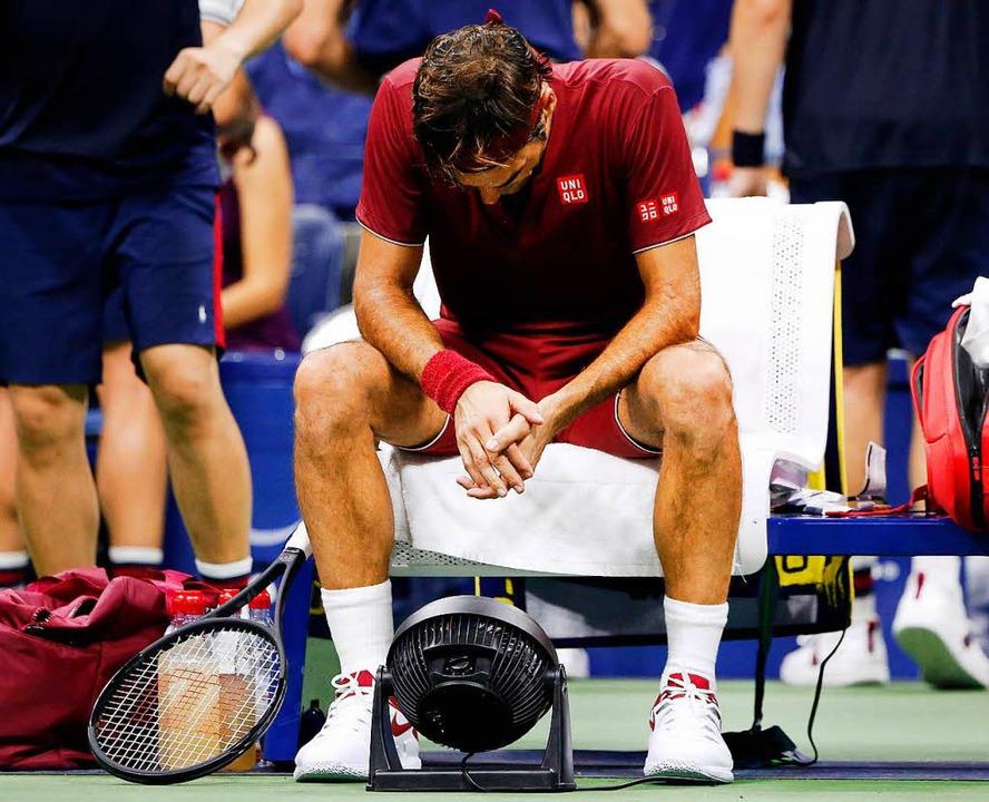 Roger Federer ist bei den US Open in N... als erster Titel-Favorit gescheitert.  | Foto: dpa