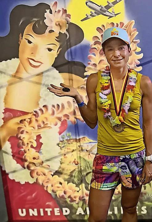 Melanie Müller hat bei ihrem ersten La...nahme beim Ironman in Hawaii gezogen.   | Foto: I. Hüge