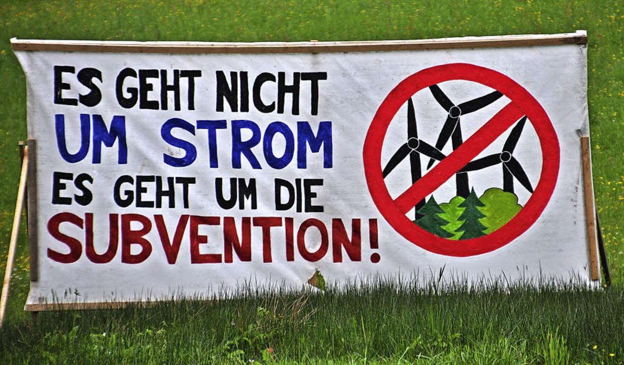 Auch die von der BI Schwarzwald Gegenw...teil der kritisierten Debattenkultur.   | Foto: Nicolai Kapitz