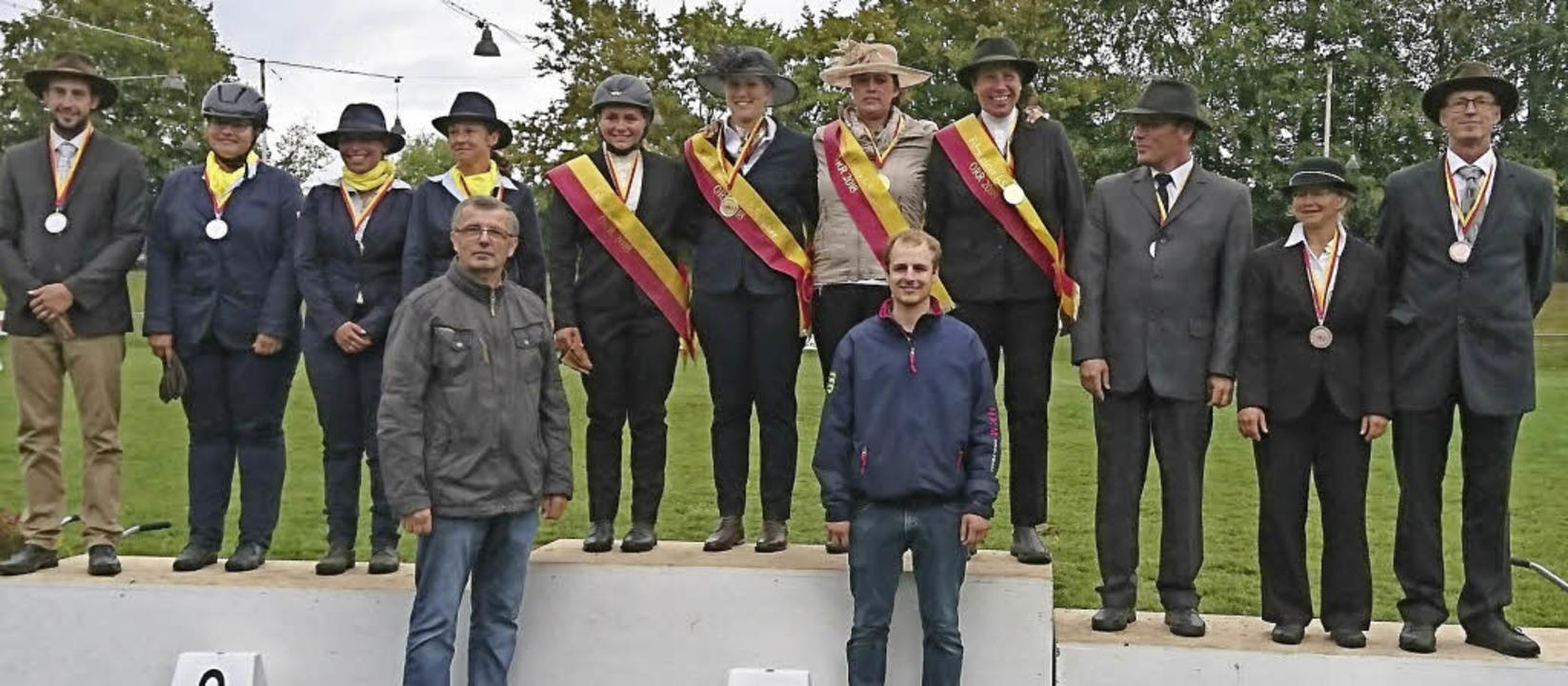 Die Medalliengewinner der Ortenauer Ringmeisterschaft.   | Foto:  Iris Bohnert