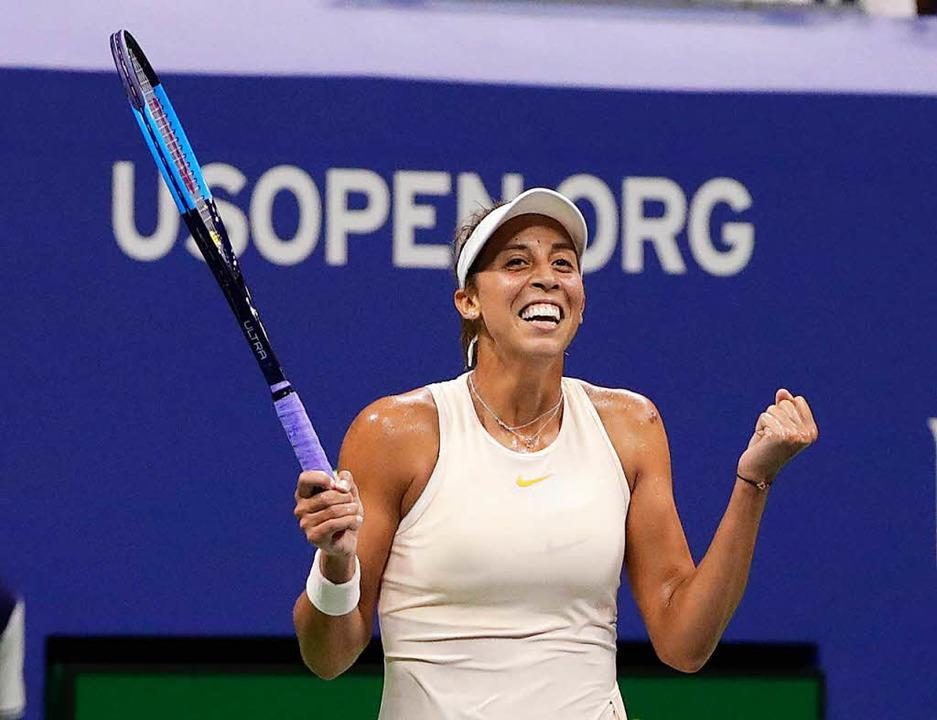 Auch Madison Keys freut sich über den Einzug ins Halbfinale.  | Foto: dpa