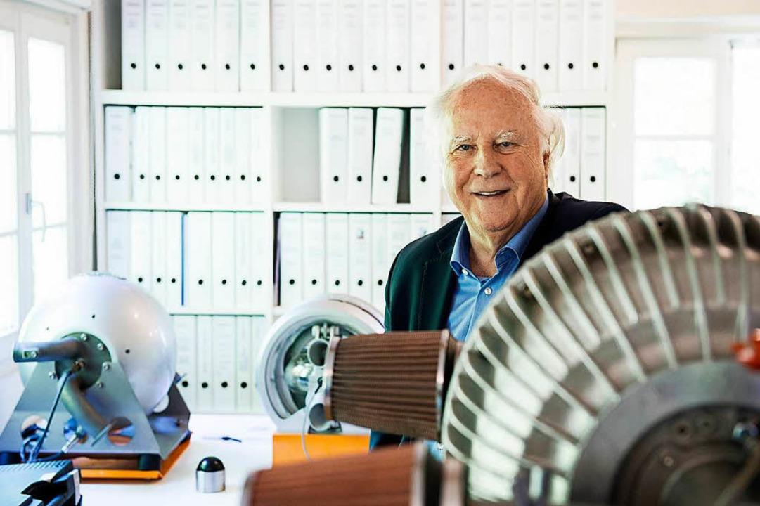 Bestehendes in Frage stellen: Konstruk... Hüttlin hat den Kugelmotor erfunden.   | Foto: Daniel Schoenen