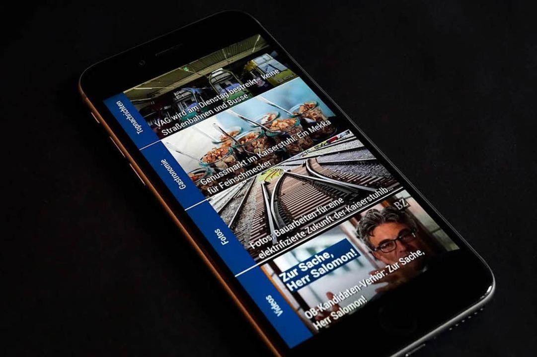 Auch mobil immer informiert: Die Nachr...rt ist immer im Digital-Abo enthalten.  | Foto: Wolfgang Grabherr
