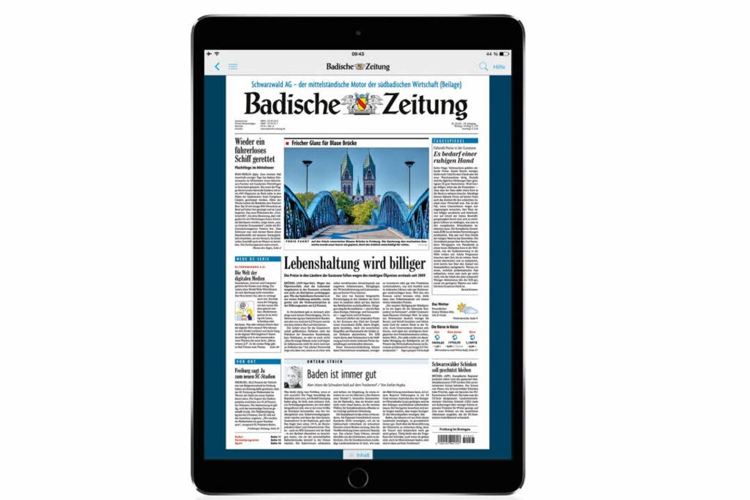 5000 BZ-Abonnenten lesen die Badische ... die BZ nun 20.000 Digital-Abonnenten.  | Foto: bz