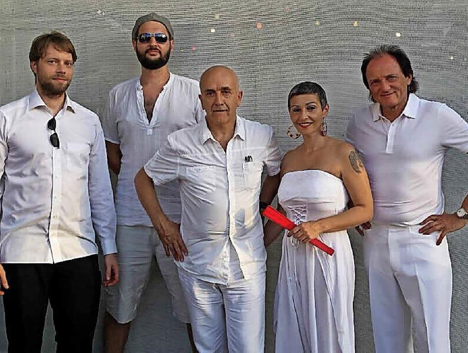 Die Musiker der Gruppe Diego's Can...er der Musiknacht auf die Tanzfläche.   | Foto: Veranstalter