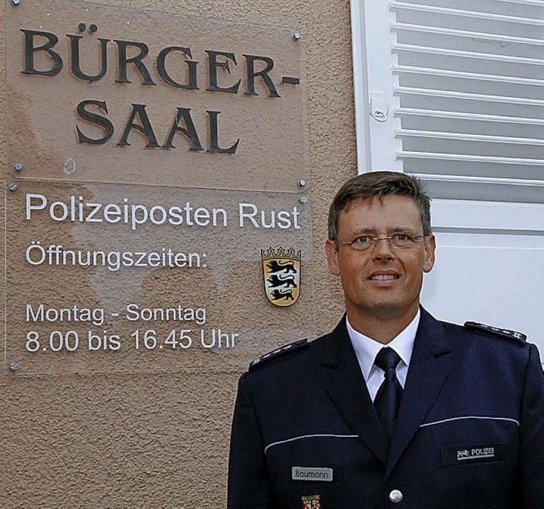 Martin Baumann ist Chef des Polizeipostens Rust   | Foto: S. Decoux-Kone