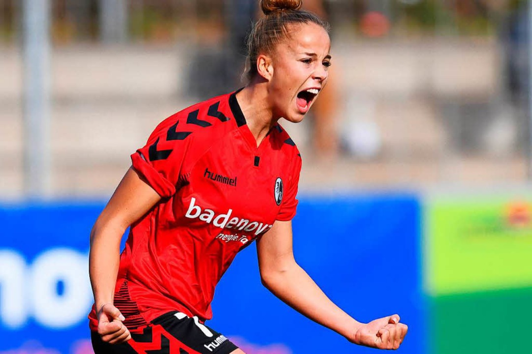 Allein Giulia Gwinn erzielt vier Treffer in Köln.  | Foto: Patrick Seeger