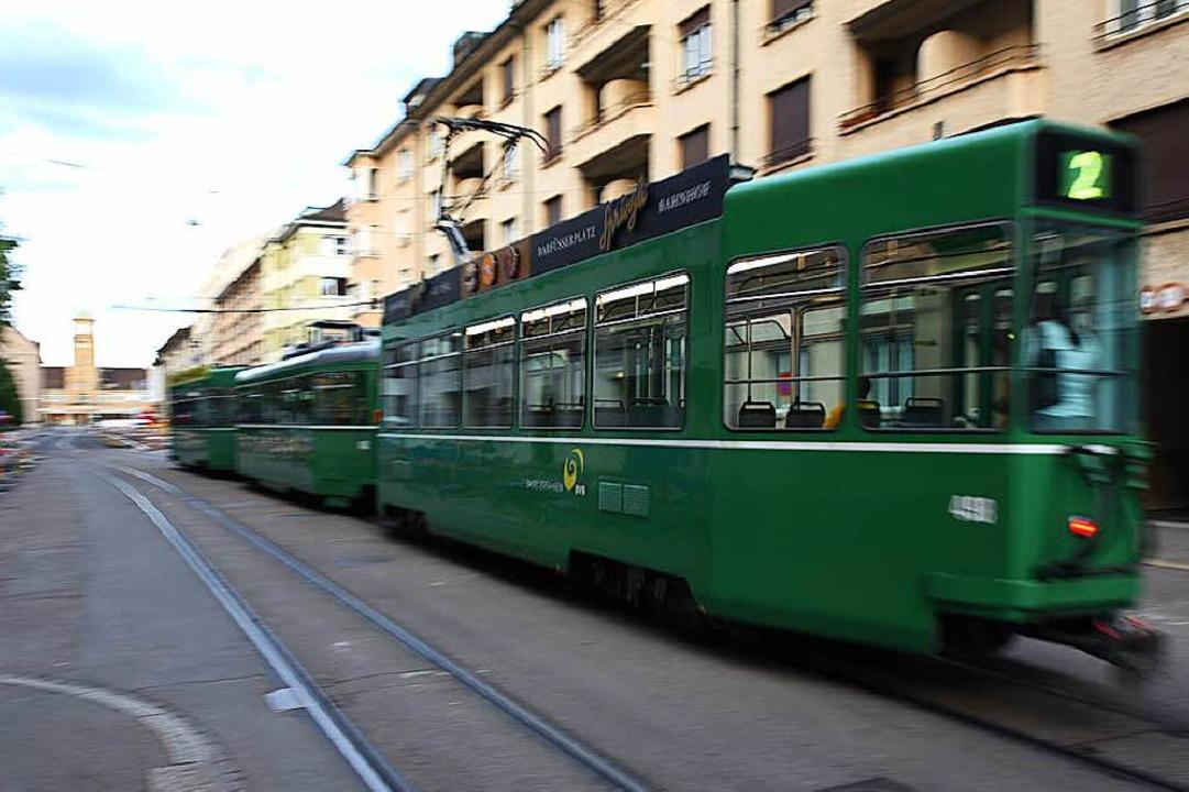 Der Tramverkehr durch die Rosentalstraße wird sechs Wochen stillstehen.  | Foto: Jonas Hirt