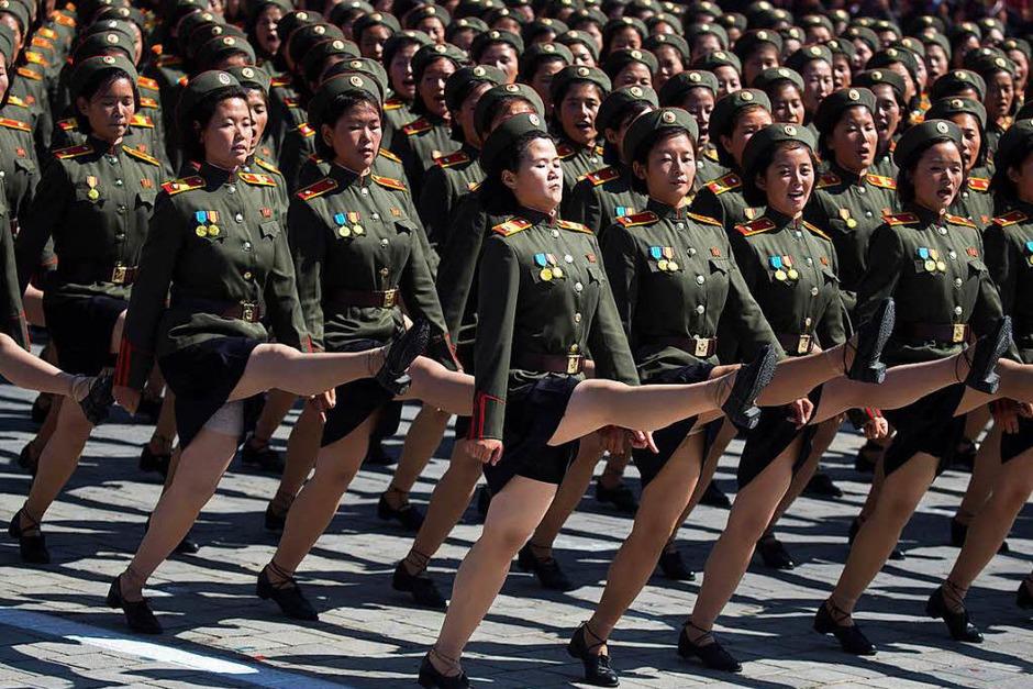 Große Militärparade in Nordkorea zum 70. Gründungstag (Foto: dpa)
