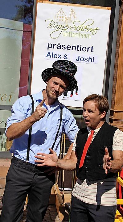 Bester Stimmung waren die Besucher des...die Komiker Alex&Joshi ihre Späße.  | Foto: Mario Schöneberg