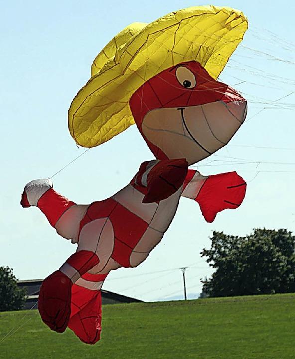 Lauter lustige Figuren hoben ab und tummelten sich munter im Wind.  | Foto: Charlotte Fröse