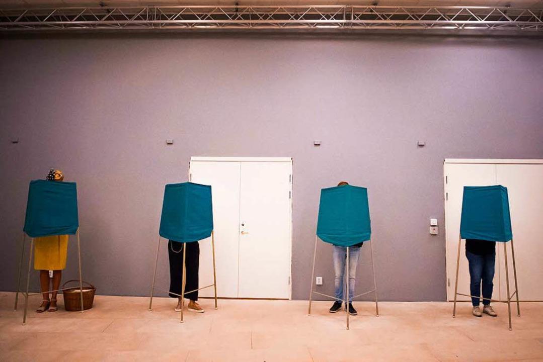 Wahltag in Schweden  | Foto: dpa
