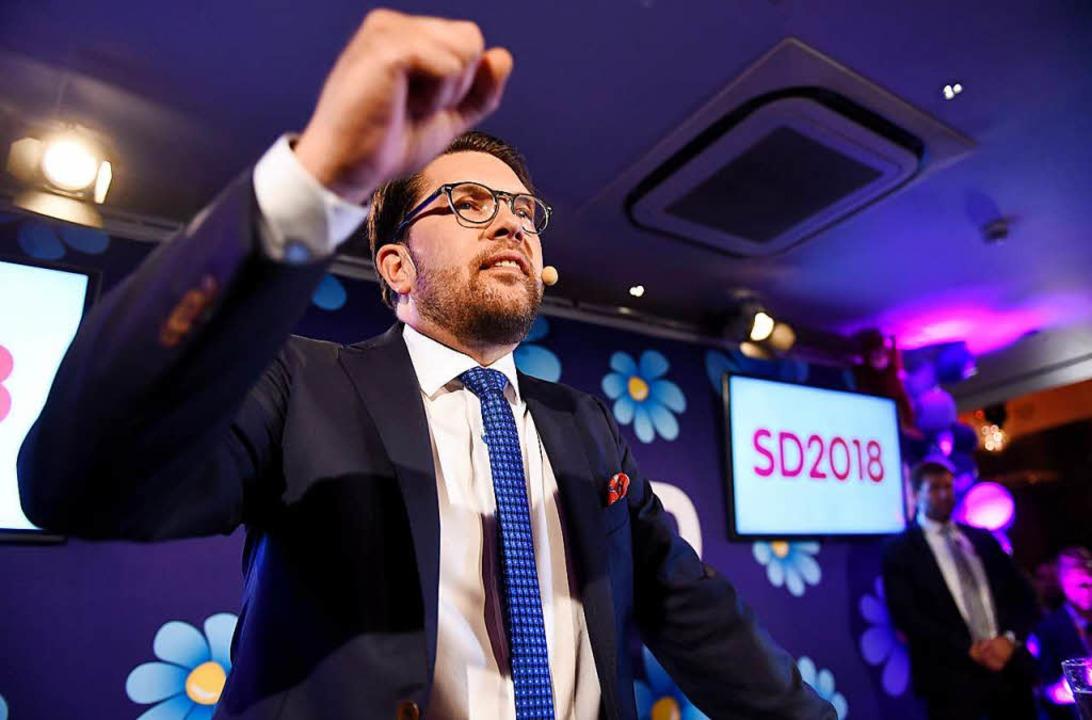 Jimmie Akesson, Vorsitzender der rechtspopulistischen Schwedendemokraten  | Foto: dpa