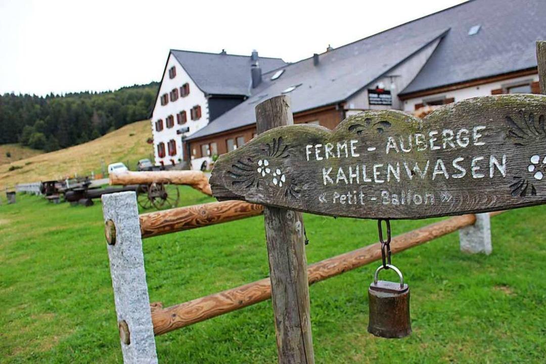 Die Ferme Auberge Kahlenwasen ist Star...r Rundwanderung auf den Petit Ballon.   | Foto: Fotos: pc