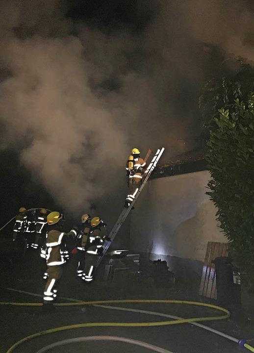 70 Personen waren im Einsatz.     Foto: Polizei/Feuerwehr Heitersheim