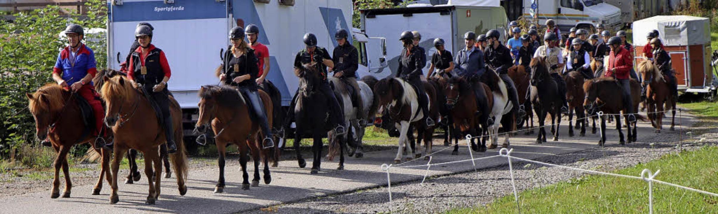 50 Reiter und Züchter aus Baden-Württe...0. Feldbergritt in Hinterzarten teil.   | Foto: Maurer